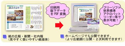ホームページ公開用PDFデータも追加できます。
